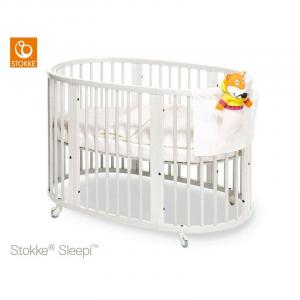 Pack Sleepi mini + Estensione letto + Materasso letto Stokke white