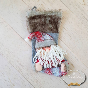 Calza Babbo Natale in pelliccia
