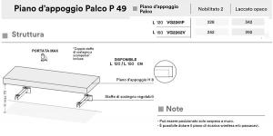 PIANO D'APPOGGIO PALCO P49