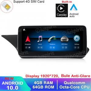 ANDROID navigatore per Mercedes Classe E W212 E200 E230 E260 E300 S212 2009-2012 NTG 4.0 10.25 pollici 4GB RAM 64GB ROM Octa-Core Car Play Android Auto Bluetooth GPS WI-FI