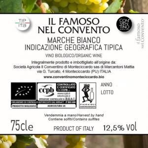 Il Famoso nel Convento IGT - Vino Bianco BIO 2019 - 75cl