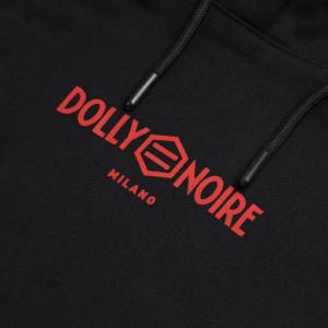 Felpa Dolly Noire Rogue Crop Black Red