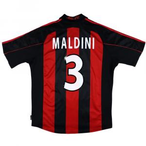 2000-02 Ac Milan Maglia Home Maldini #3 L