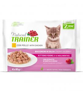 Trainer Natural - Kitten - FlowPack 3 x 4 buste da 85g