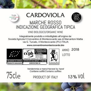 Cardoviola - IGT Marche - Vino Rosso BIO - 75cl