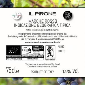 Il Pirone - IGT Marche - Vino Rosso BIO - 75cl