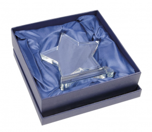 Trofeo STELLA in vetro bianco