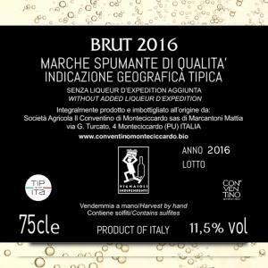 Metodo Classico - Spumante Brut IGT Marche 2016 - 75cl