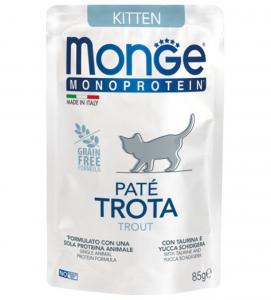 Monge Cat - Monoprotein - Kitten - Trota - 85g x 7 buste