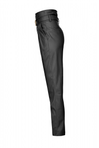 Pantaloni in pelle a vita alta Pinko.