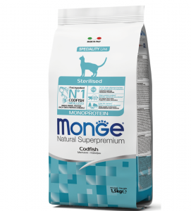 Monge Cat - Natural Superpremium - Adult - Sterilised - 1,5 kg