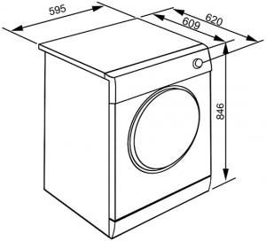 Smeg DHT83LIT-1 asciugatrice Libera installazione Caricamento frontale Argento, Bianco 8 kg A+++