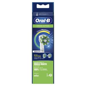 Oral-B CrossAction 80338444 testina per spazzolino 3 pezzo(i) Bianco