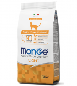 Monge Cat - Natural Superpremium - Light - Tacchino - 1,5 kg
