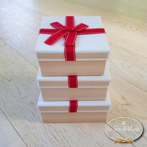 Scatole da regalo in decupage