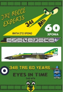 348SQ TRS 60 YEARS is the origin McDonnell RF-4E Phantom II