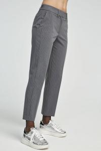 Pantalone grigio gessato Aniye By.