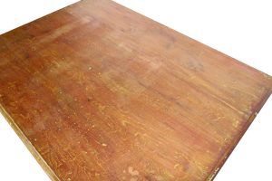 Scrivania indiana in legno di teak recuperato