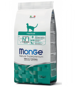 Monge Cat - Natural Superpremium - Hairball - 1,5 kg