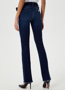 LIU-JO JEANS UF0025D4510 Jeans Bottom Up in denim scuro