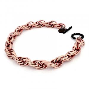 Collana donna di catena corda, morbida, finitura sabbiata - Main view - small