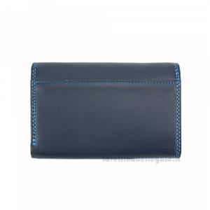 Portafoglio donna Blu Scuro in pelle - Mirella - Pelletteria Fiorentina
