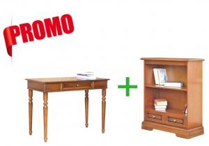 [HOMEOFFICE] - Escritorio + librería baja con cajón