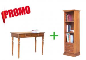 [HOMEOFFICE] - Escritorio + librería baja estrecha