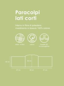Morbido Paracolpi Lettino Neonato e Bambino Lavabile Protezione Avvolgente Imbottitura Spessore 4 Cm Tessuto Cotone Certificato - Made In Italy -  Pois Grigio Chiaro related image