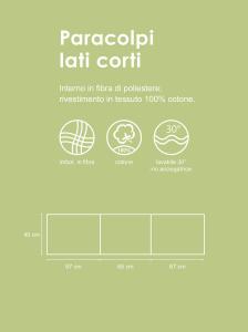 Morbido Paracolpi Lettino Neonato e Bambino Lavabile Protezione Avvolgente Imbottitura Spessore 4 Cm Tessuto Cotone Certificato - Made In Italy -  Lineare Pois Grigio related image