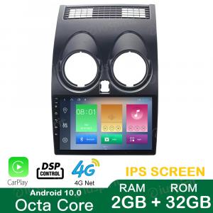ANDROID 10 autoradio navigatore per Nissan Qasqai 2007-2013 GPS USB WI-FI Car Play Bluetooth Mirrorlink 4G LTE