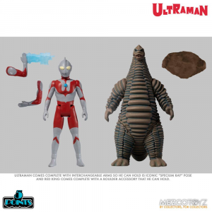 *PREORDER*   Ultraman Action Figures: ULTRAMAN & RED KING - BOXED SET by Mezco Toys