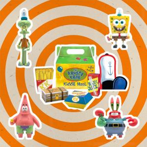 *PREORDER* SpongeBob SquarePants ReAction Action Figure: SERIE COMPLETA - KRUSTY KRAB MEAL NYCC by Super7