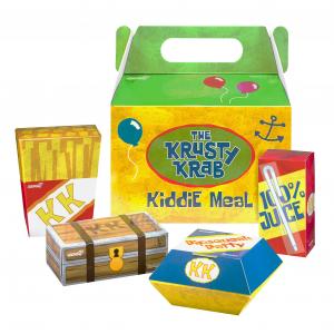 SpongeBob SquarePants ReAction: KRUSTY KRAB KIDDIE MEAL NYCC by Super7