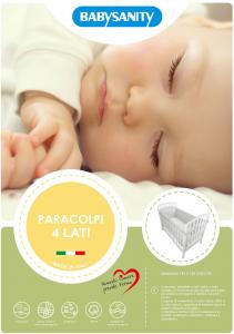 Morbido Paracolpi Lettino 4 Lati Neonato Protezione Avvolgente Imbottitura Spessore 4 Cm Tessuto Cotone Certificato - Made In Italy -  4 Lati Grigio related image
