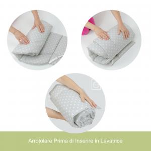 Morbido Paracolpi Lettino 4 Lati Neonato Protezione Avvolgente Imbottitura Spessore 4 Cm Tessuto Cotone Certificato - Made In Italy -  4 Lati Tortora related image