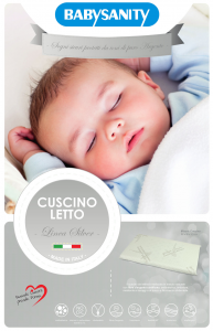 Babysanity Cuscino Lettino con Ioni d'Argento Silver Anallergico Sfoderabile Lavabile related image