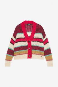 Cardigan a righe colorate