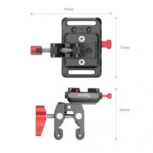 Mini piastra con clamp di fissaggio per batteria V Mount 2989