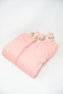 Giubbotto Donna Massimo Rebecchi Tg 42 Rosa Con Decoro Perline Sul Collo