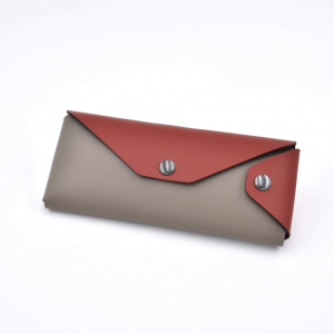 Pencil Case Eros Burgundy Red / Taupe Grey