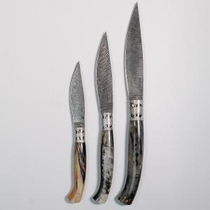 ARBURESA KNIFE LAMA DA SCANNO DAMASCO INOX