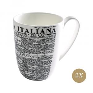 Set 2 Mugs cc 350 in Giftbox GCV | Geometric | La Cucina Italiana