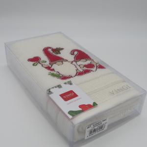 Asciugamano spugna ospite decoro Natale in cotone