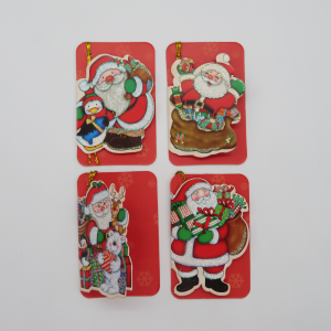 Biglietti augurali Babbo Natale assortiti