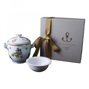 Piccolo vaso con coppetta caviale in Giftbox GCV - Floreale