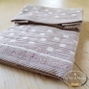 Asciugamani Pois Tortora