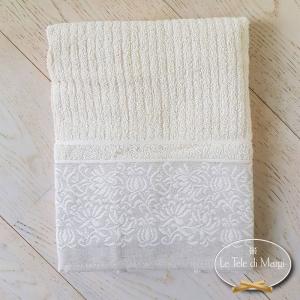 Coppia asciugamani Chicco di riso