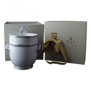 Vaso/centrotavola in Giftbox GCV - Fili platino e azzurro