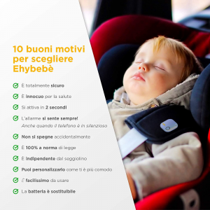 Ehybebè dispositivo anti abbandono auto universale Ehyfra